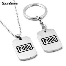 Samyeung Game 3 Battlegrounds Winner Necklaces for Men Women Link Chain PUBG Battle Grounds Chicken Necklace Homme Jewelry