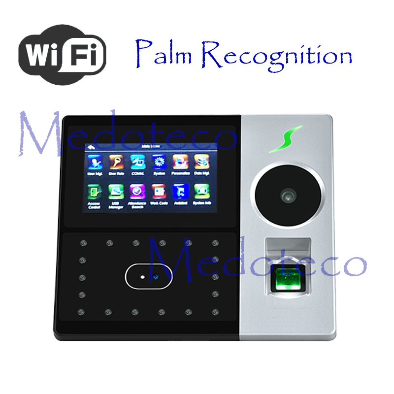 New Wifi Palm Time Attendance Employee Hybird Biometric Electronic Attendance Face & Fingerprint Time Recorder Free Software
