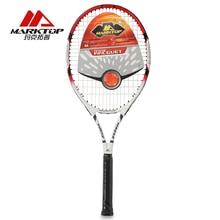 цены на Marktop Carbon Fiber Tennis Racket Racquets  with Racquet Bag for Beginners Tennis Training racket Red Aluminum Alloy M3242  в интернет-магазинах