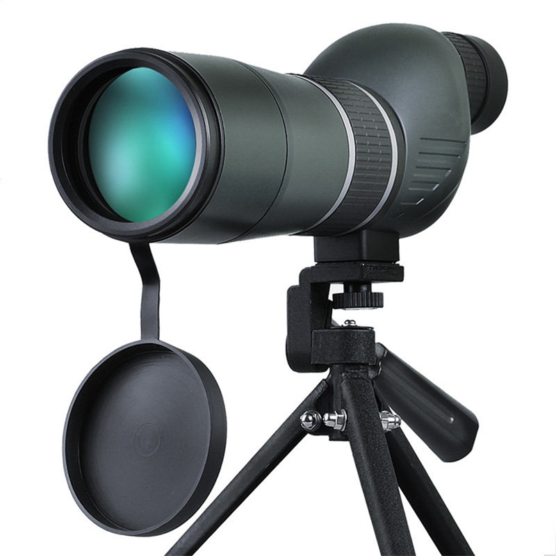 Best Deal 15-45x60 HD Monocular Hunting Optics Zoom Len Eyepiece Telescope for Bird Watching Spotting Hiking Viewing with Tripod hot selling 15 40x50 zoom hd monocular bird watching telescope binoculars with portable tripod spotting scope blue coating