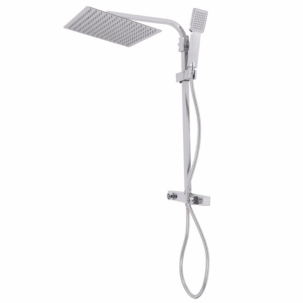 300MM Twin Head Shower Rainfall Mixer Chrome Bathroom Tap Waterfall 5-17L/min