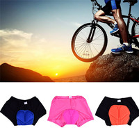 Riding Underwear Unisex Men Women Silicon Gel Cycling Shorts Comfortable Breathable 3D Padded MTB Mountain Bike