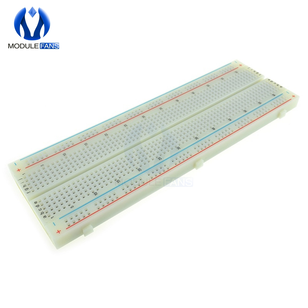 830 Tie Points Holes Universal Solderless PCB Breadboard Mini Test Protoboard DIY Bread Board For Bus Test Circuit Board MB102
