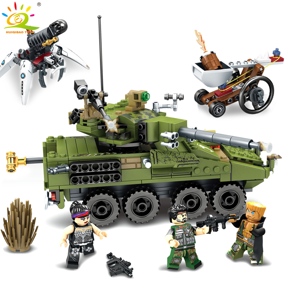 438pcs Military Army tank Chariot soldier Weapon Compatible Legoed technic Educational Building Blocks bricks Toys For Children kazi 228pcs military ship model building blocks kids toys imitation gun weapon equipment technic designer toys for kid