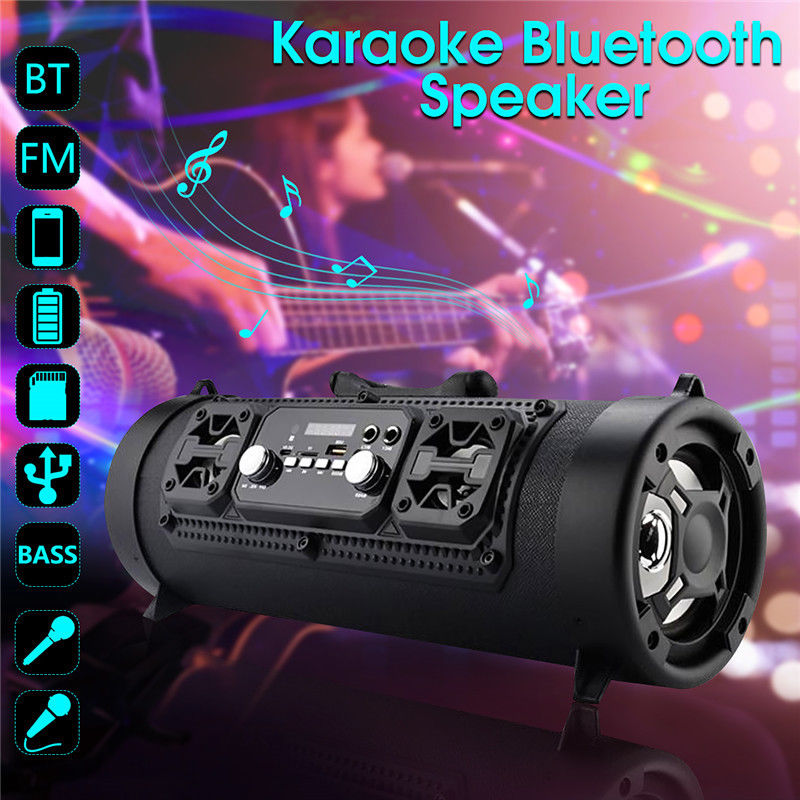 MKUYT Outdoor Portable Bluetooth Speaker 15W Heavy Bass Multi Function TF U disk Card Slot Microphone Sound Tide for Smartphones ysx 68 portable multi function amplifier w tf card slot usb fm radio black