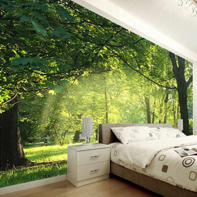 Foto Kustom Wallpaper 3D Pemandangan Alam Dekorasi Dinding Ruang Tamu Kamar Tidur Dinding Mural Kertas Dekorasi Rumah Mural
