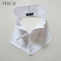 New Fashion Women Detachable Pleated Collars 100 Cotton Functional Stand Collar British Style Organ Lacing Collar
