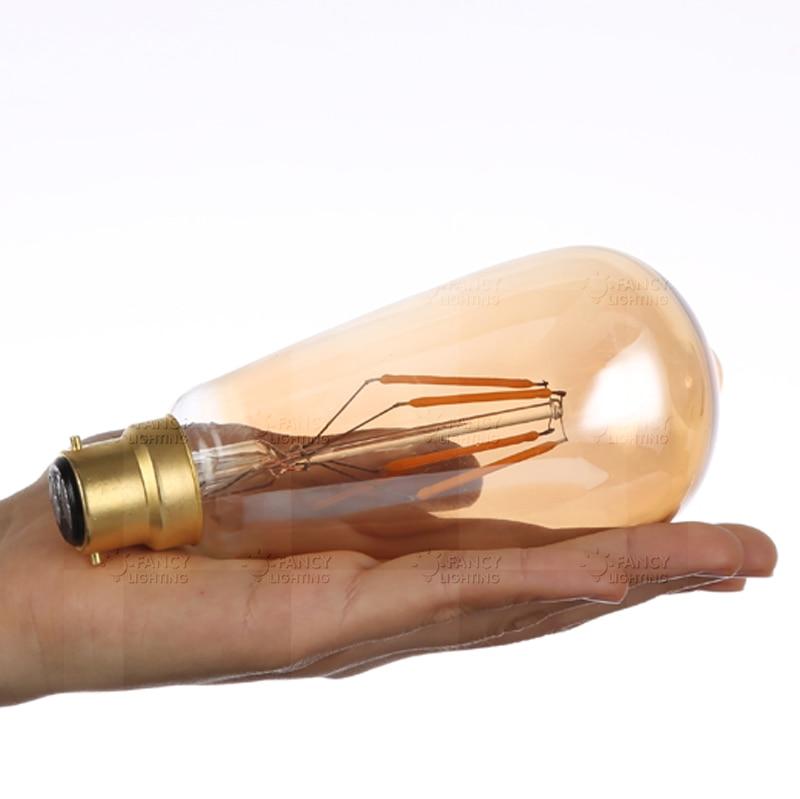 LightInBox 220v power led energy saving lamp for home decor lamparas st64 golden led lamp e27 vintage edison filament bulb