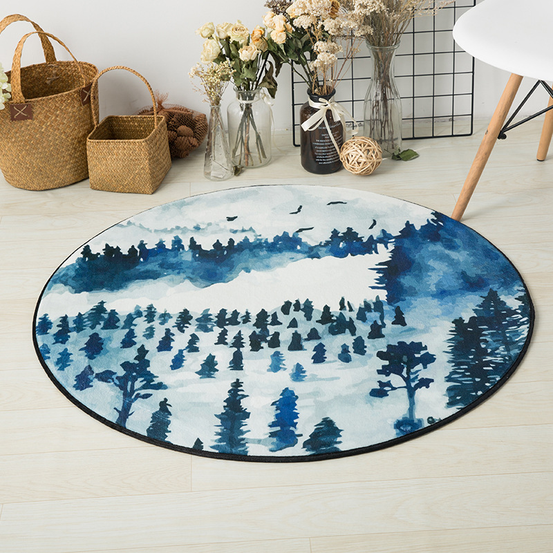 Mother & Kids 120cm Kids Play Game Mats Round Carpet Rugs Mat Cotton Hairball Crawling Blanket Floor Carpet Toys Ins Room Decoration Products Are Sold Without Limitations