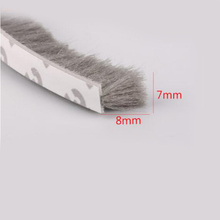 1M Self adhesive window door seal strip draught excluder brush pile sealing