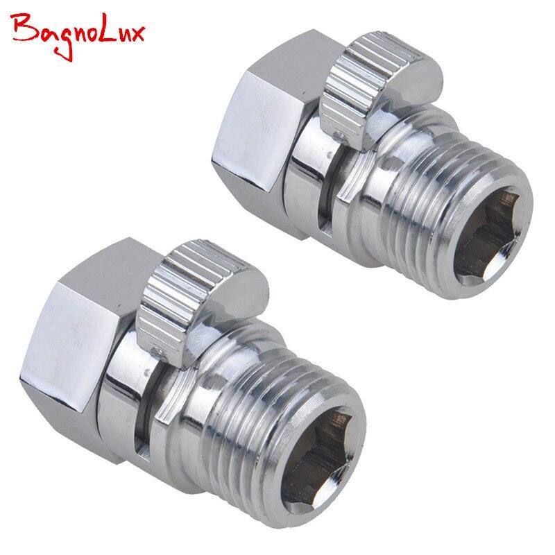hot sale 2 pcs shower diverter valve solid brass shut off valve for bidet sprayer or - Shower Diverter Valve