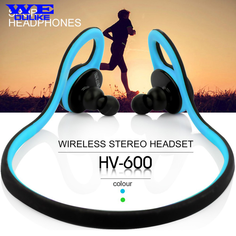 ФОТО Ultra Bluetooth 4.0 Wireless Sports Rainproof Earphones HV-600 With Microphone Handfree for Running Gym Hiking Jogger Bicycle