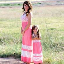 Mommy and me family matching mother daughter striped dresses