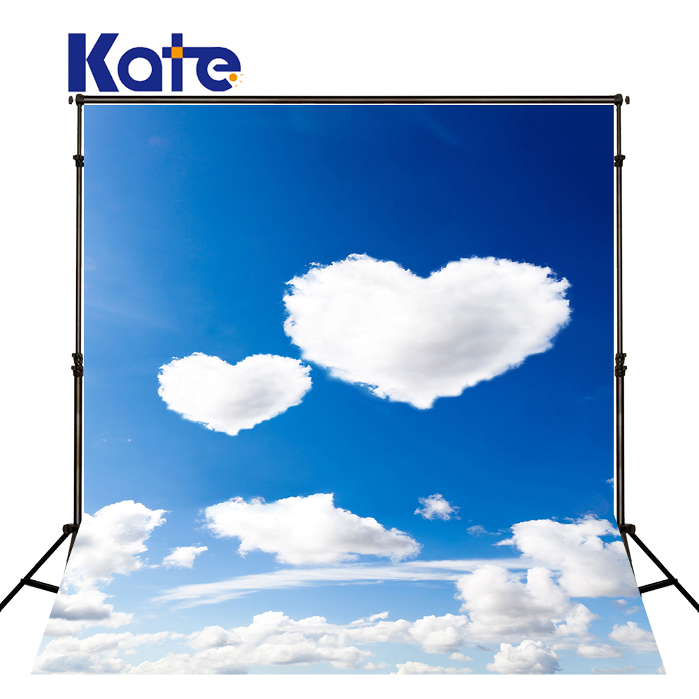KATE Photography Backdrops White Cloud Naturism Children Photos Blue Sky Background Scenery Background for Photocall Newborn