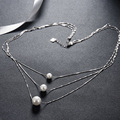100% 925 Silver Pearl Pendant Necklace Women's Fashion Fine Jewelry Pretty Dress Accessories Wedding Gifts collier Top Quality