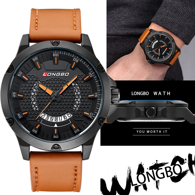 2018 Fashion Calendar Wristwatch Quartz Watches Men Top Brand Luxury Leather Wrist Watch for Man Male Clock Relogio Masculino new 2018 men watches luxury top brand skmei fashion men big dial leather quartz watch male clock wristwatch relogio masculino