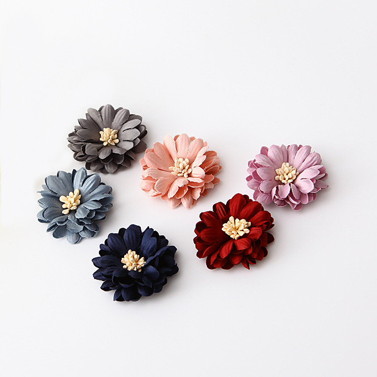 20 Pcs Satin Cloth Gauze Flowers Connectors Diy Handmade Headwear Accessories For Jewelry Making Beads & Jewelry Making