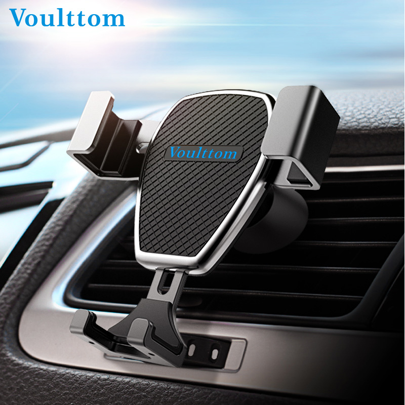 Voulttom Holder For Phone in Car Air Vent mount Auto Gravity Car Phone Holder One hand Operate for iPhone Plus Samsung Huawei