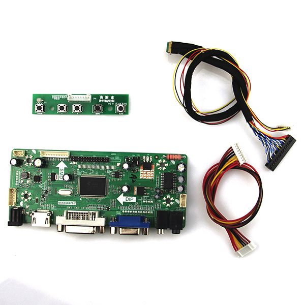 M.NT68676 LCD/LED Controller Driver Board For N154I2-L02 CLAA154WA05AN (HDMI+VGA+DVI+Audio) LVDS Monitor Reuse Laptop 1280*800