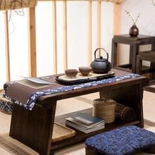 Burnt paulownia ventana de madera de la Bahía pequeña mesa de café casa tatami plegable baja Mesa balcón rural vintage mesa de té