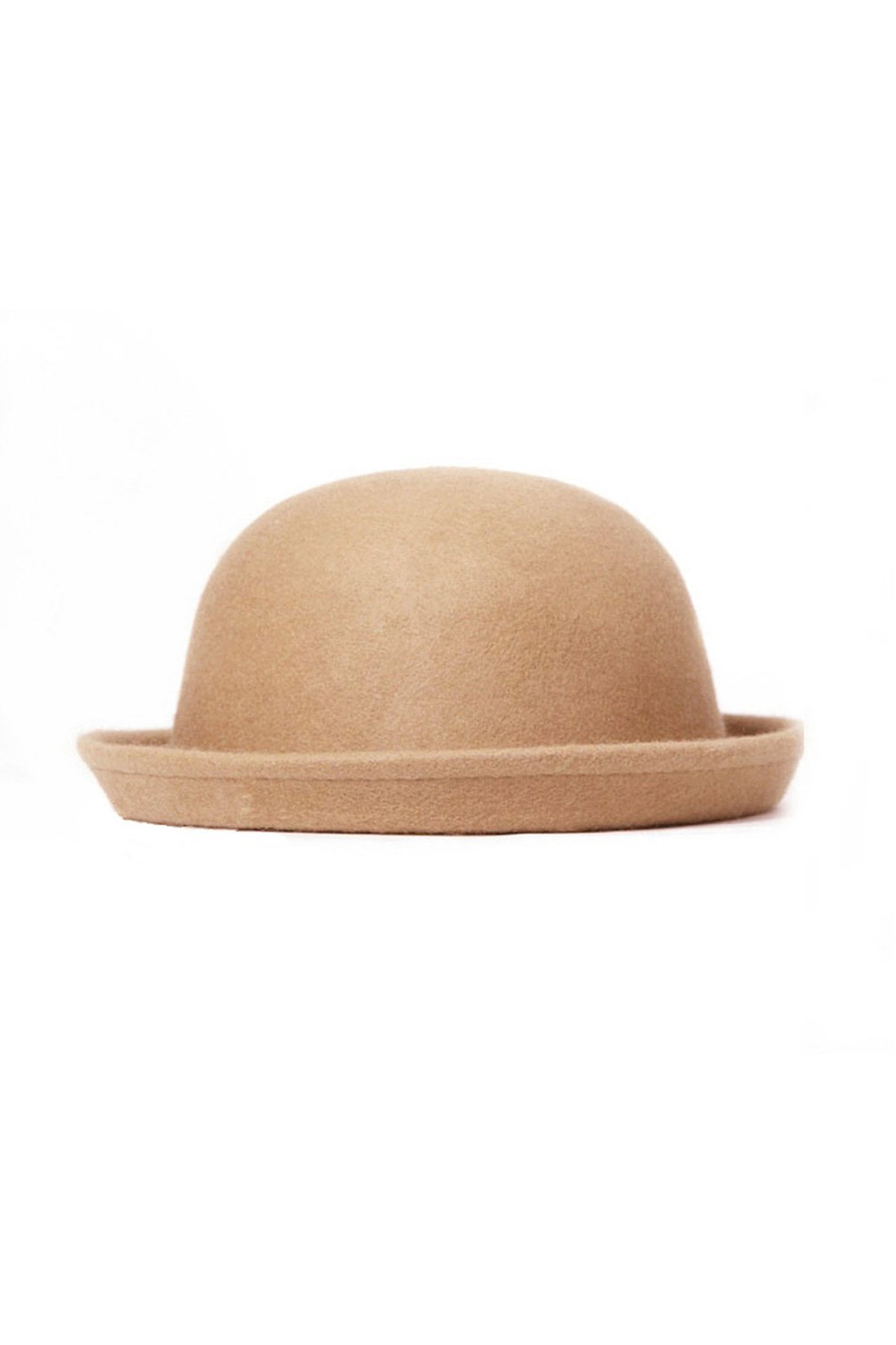 Aliexpress.com   Buy Fashion Vintage Women Fedoras Dome Hat Roll Brim Bowler  Derby Hat Headwear Light tan from Reliable fashion fedora suppliers on Well  ... dc220c39e54