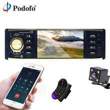 Podofo 4 »TFT Écran 1 Din Voiture radio stéréo MP3 lecteur audio Bluetooth Avec Caméra de Recul De Voiture télécommande usb FM