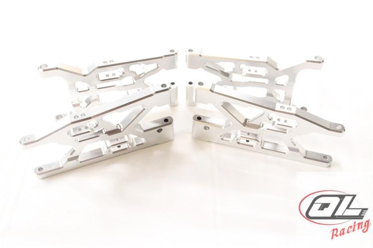 CNC Aluminium Voorwielophanging Arm en Achterwielophanging Arm voor Losi 5ive T, Rovan LT, Koning Motor X2-in Onderdelen & accessoires van Speelgoed & Hobbies op  Groep 1
