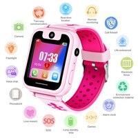 Водонепроницаемые Детские умные часы SOS аварийный вызов LBS отслеживание позиционирования безопасности детские цифровые часы Поддержка SIM