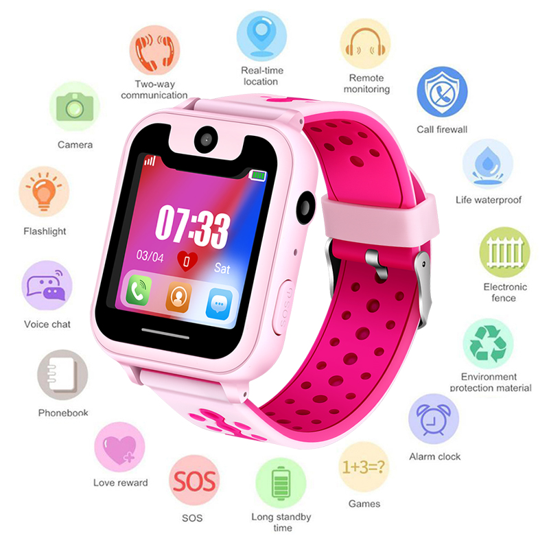 Waterproof Children Smartwatch SOS Emergency Call LBS Security Positioning Tracking Baby Digital Watch Support SIM hello