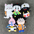 5pcs/lot Dragon Ball Z Toy Son Goku Mr. Popo dragonball Karin Buu Chiaotzu With Sucker Soft Stuffed plush pendant Dolls