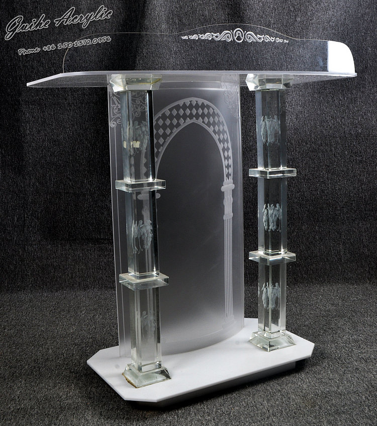 Church-specific Church Pulpit With Exquisite And Transparent Crystal Columns