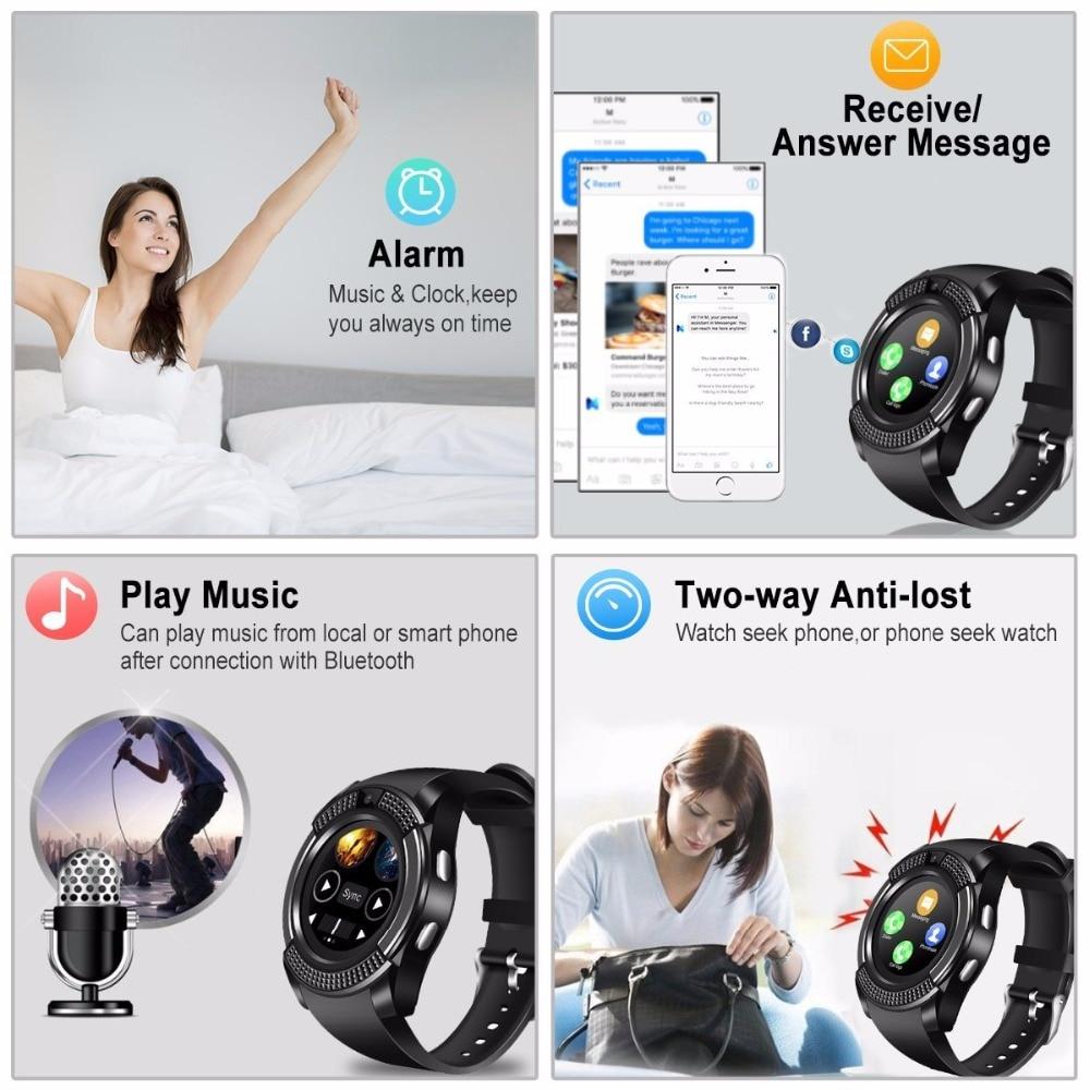 V8 SmartWatch Bluetooth Smartwatch Touch Screen Wrist Watch with Camera/SIM Card Slot, Waterproof Smart Watch DZ09 X6 VS M2 A1 20