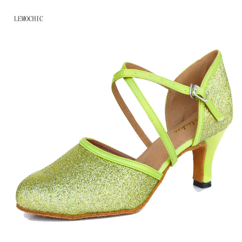 LEMOCHI Cgenuine leather women hot sale rumba samba latin tango cha cha pole salsa ballroom pointe professional dancing shoes