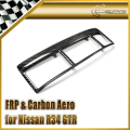 Car-styling For Nissan R34 GTR Carbon Fiber Air Con Surround Stick On Type (RHD) In Stock