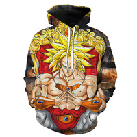 Sondirane Newest 3D Print Anime Dragon Ball Z Hoodies Fashion Men Women Long Sleeve Pullover Sweatshirts