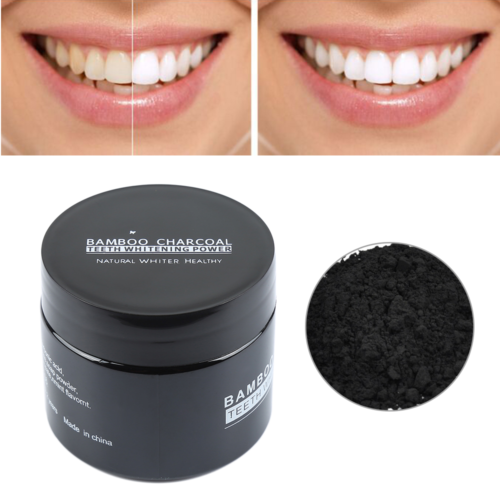 Mint Flavor Bamboo Charcoal Teeth Whitening Caring Powder Remove Peculiar Smell Natural Teeth Whitening Powder TSLM2