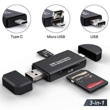 Đầu Đọc Thẻ SD USB 3.0/2.0 Đầu Đọc Thẻ Loại C Micro TF/SD CardReader USB Đèn LED adapter OTG Máy Tính Đầu Đọc Thẻ