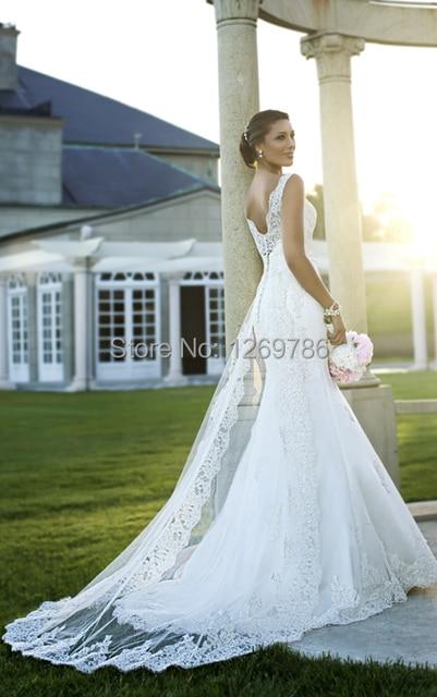 Beige Lace Mermaid Wedding Dresses