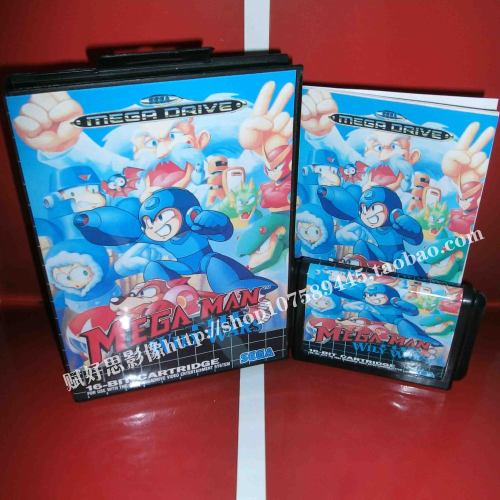 Megaman The Wily Wars EU With Box And Manual 16bit MD Game Card For Sega Mega Drive /Genesis