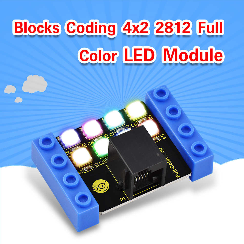 Kidsbits Blocks Coding 4×2 2812 Full Color LED Module
