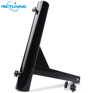 """MICTUNING Upgraded Hitch Mount Flagpole Holder w/ Anti-Wobble Screws Universal for 2"""" Receiver Hitch Flag Mount Flag Pole Holder"""
