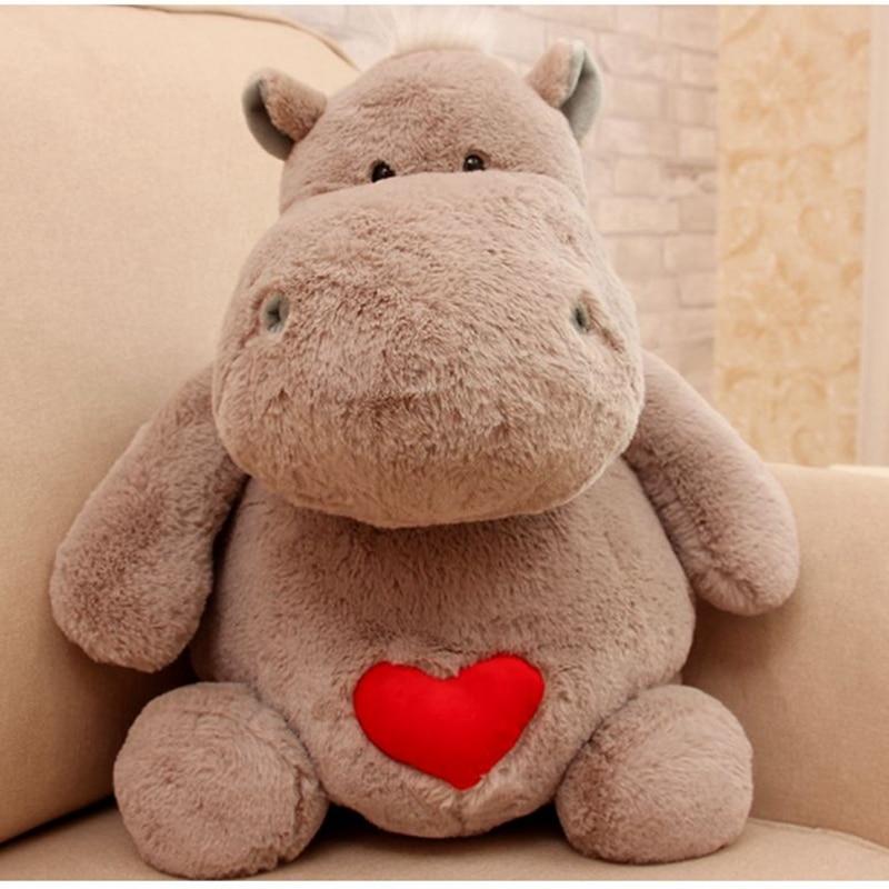 Dorimytrader Animal gigante hipopótamo de peluche de juguete grande de peluche lindo suave de dibujos animados hipopótamo almohada de peluche niños muñeca regalo 20 pulgadas 50 cm DY61503-in Peluches y muñecos de peluche from Juguetes y pasatiempos    1