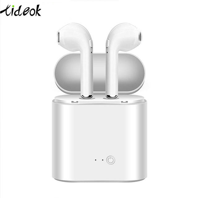 Bluetooth Wireless Earphones i7s TWS Bluetooth Wireless Earphones Mic Sports Stereo Earbuds With Charging Box