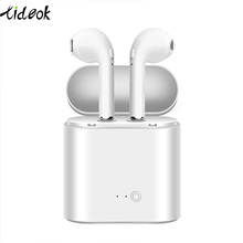 Bluetooth kablosuz kulaklık i7s TWS Bluetooth kablosuz kulaklık Mic spor Stereo kulaklık ile şarj kutusu