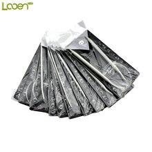 11 Sizes 32 80cm New Cute Looen High Quality Plastic Tube Stainless Circular Knitting Needles 2.0-8.0mm For Women