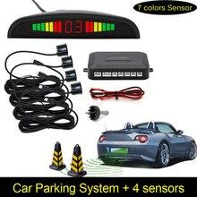 Car Parking Sensors Parktronics 4 Black silver white 13mm Adjustable Flat Sensors