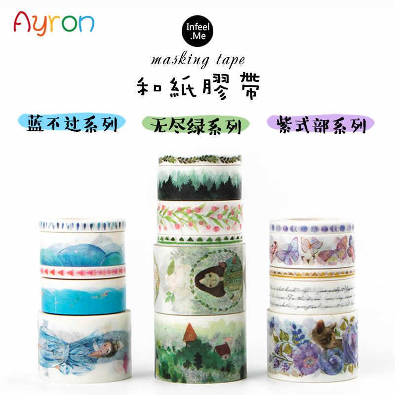 Stile giapponese e Coreano washi nastro adesivo FAI DA TE decorazione scrapbooking planner nastro adesivo nastro adesivo di cancelleria kawaii