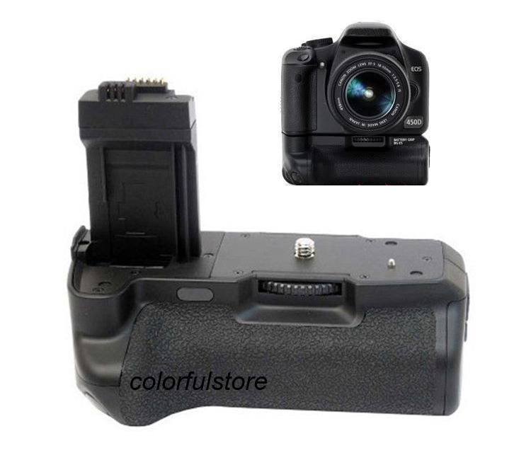 Verticale Batterij Hand Handvat Grip Holder Pack Voor Canon EOS 450D 500D 1000D Rebel XSi T1i XS SLR Camera als BG-E5 BGE5 + Ir-afstandsbediening