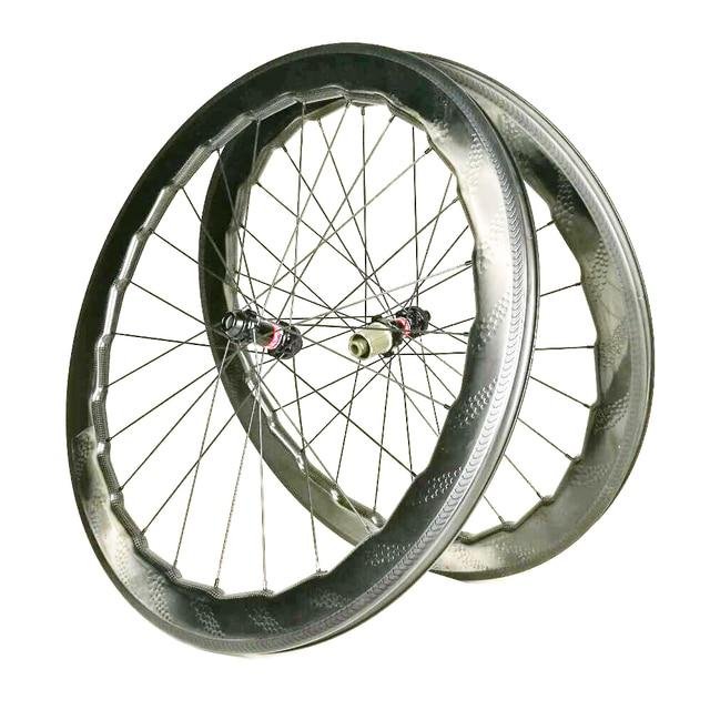 ca8bf3f79 Road Bike 58mm 454 Dimple Carbon Wheels Dimple Clincher Tubular Tubeless  Wheel UD R13 R36 Basalt BrakeSurface Carbon Wheelset