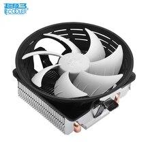 10 см вентилятор 2 HEATPIPE охлаждения для Intel LGA1151 775 1150 для AMD AM3 +/FM1/FM2 охладитель Для Процессор вентилятор радиатора silent PCCooler Q102 V4